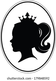 Girl's head, crown and tail on different layers