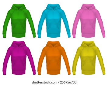 Girl's hoodie. Vector exclusive clothing collection