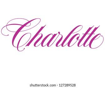 Girl's Name Elegant Vector Lettering Series: Charlotte