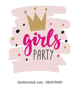 Girls party lettering
