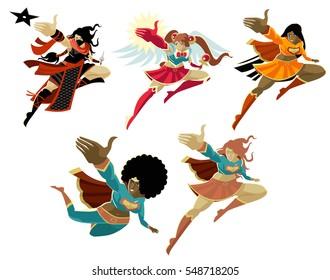 girls superhero pack