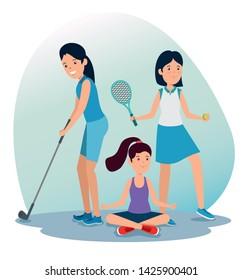 girls training exercise balance activity