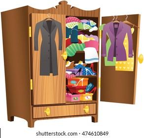 Girls wooden wardrobe.