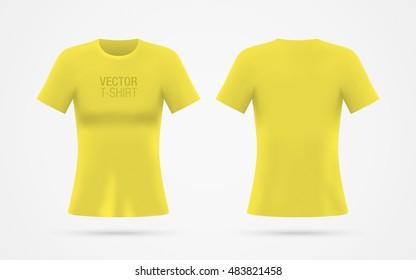 Download T Shirt Mockup Yellow Images Stock Photos Vectors Shutterstock PSD Mockup Templates