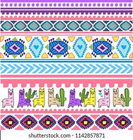 girly cut lama animal pattern fo baby and kids clothes