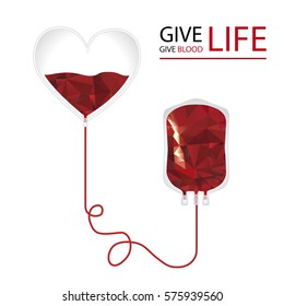 Give life. Donate blood concept.