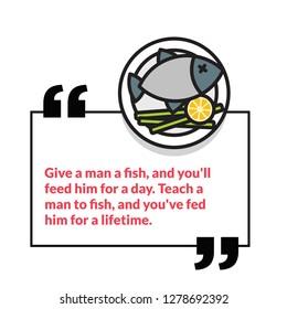 give a man a fish teach a man to fish