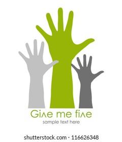 Give me five symbol, vector illustration