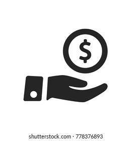 Give money icon vector