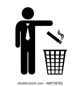 Give up smoking icon vector illustration isolated on white background