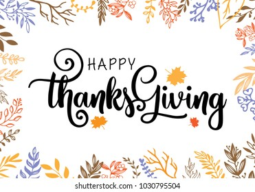Give thanks season hand drawn vector