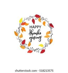 Give thanks season hand drawn vector