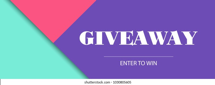 Giveaway banner. Vector beauty and fashion design template. Facebook cover size