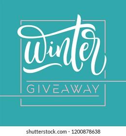 giveaway banner summer contests social media stock vector royalty