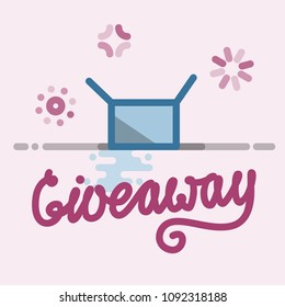 giveaway, colorful, color, winner, promotion, random, contest, give, away, win, social, media, banner, competition, share, advertising, business, choice, freebie, gift, giving, marketing, message, off