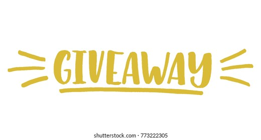 Giveaway vector lettering