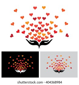 giving love vector icon in eps 10 format