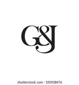 G&J Initial logo. Ampersand monogram logo