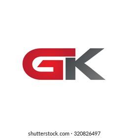 GK company linked letter logo