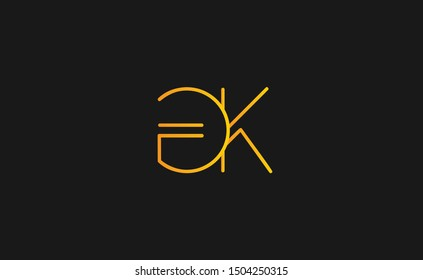 GK letter Logo Design Template Vector