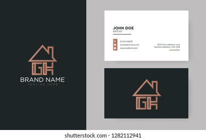 GK Letter Real Estate Logo Design - Real estate logo
