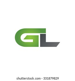GL company linked letter logo green