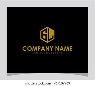 GL initial letter logo design