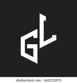 GL Initial Letters logo monogram with up to down style
