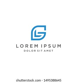 GL Leaf Logo Monogram Icon Vector Template