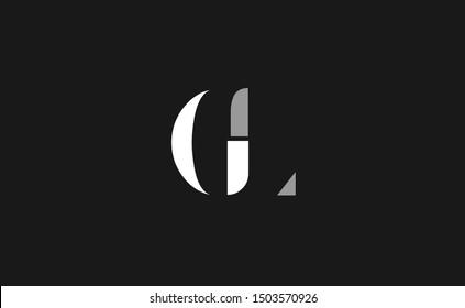 GL letter Logo Design Template Vector