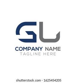 GL letter Type Logo Design vector Template. Abstract Letter GL logo Design