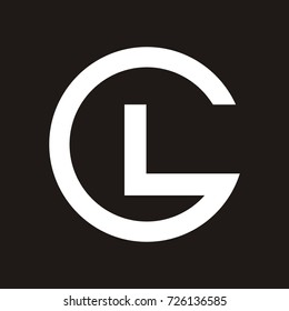 GL or LG initial letter logo design template vector