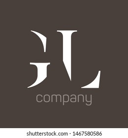 GL logo design. Monogram. Company logo. Letters G and L.