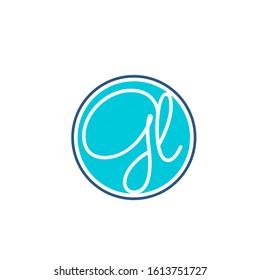 gl logo design simple modern template