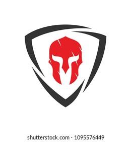 Gladiator Logo Template Design Vector