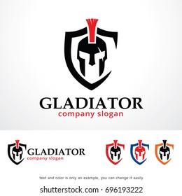 Gladiator Logo Template Design Vector, Emblem, Design Concept, Creative Symbol, Icon