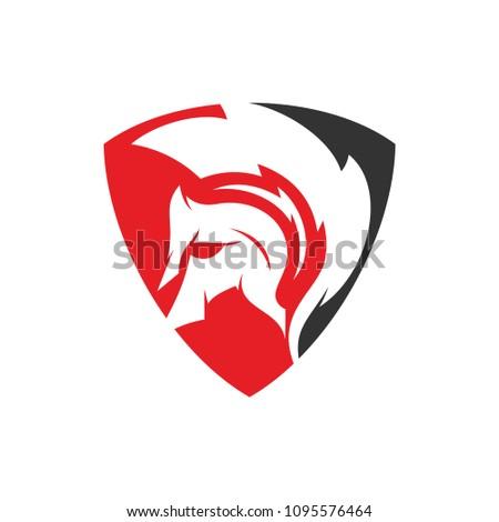 gladiator logo template design vector stock vector royalty free rh shutterstock com gladiator locomotive gladiator mascot svg