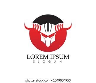 Gladiator mask warior logo and symbols template app