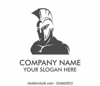 gladiator roman medieval army silhouette logo icon image