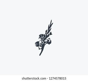 Gladiolus icon isolated on clean background. Gladiolus icon concept drawing icon in modern style. Vector illustration for your web mobile logo app UI design.