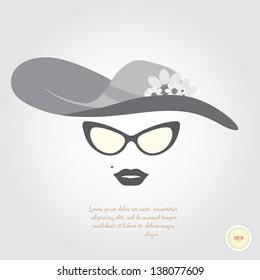 Glamorous lady retro style