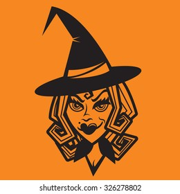 Glamorous Witch - Halloween Vector Icon