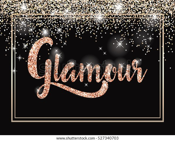 Glamour Invitation Card Fashion Show Vip Stock Vector