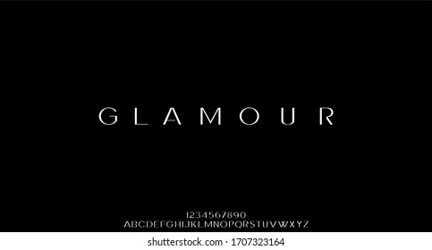 glamour luxury font alphabet vector set