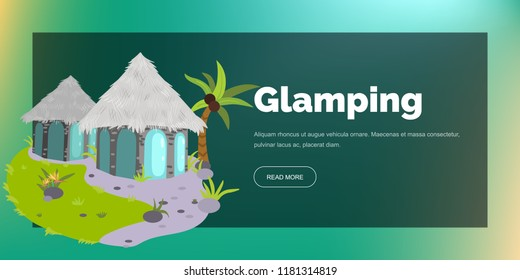 Glamping houses poster
