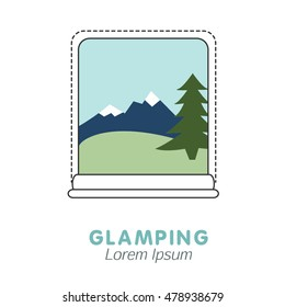 Glamping icon with window