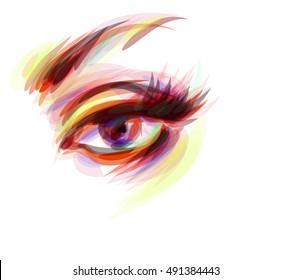 glance, look, look, look, eyes, restnitsy, eyebrows, makeup, circle, style, face, female, girl, makeup, mascara, eye,