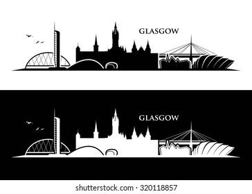 Glasgow skyline - vector illustration