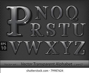Glass alphabet (part 2)