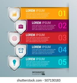Glass Arrow Infographics Design Template